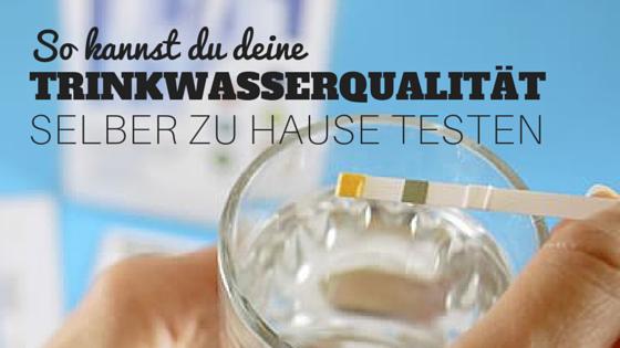 Trinkwasser Test selber machen